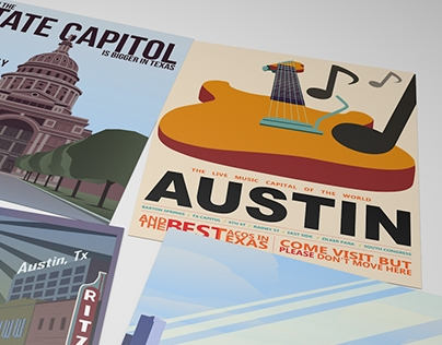 Austin Retro Posters
