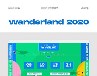 Wanderland 2020 Website Design and Animation