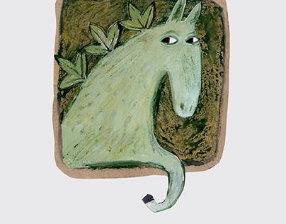 """Green horse"" illustrations"