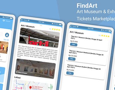 FindArt - UI Design Exploration