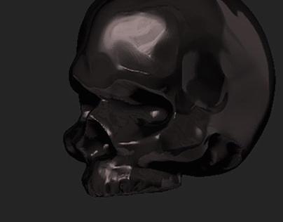 skull sculp in Zbrush