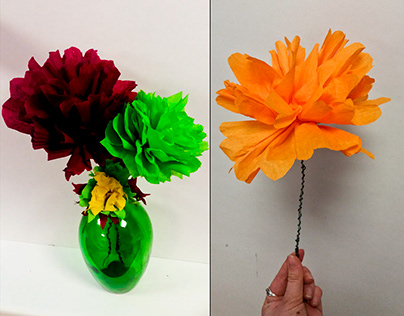 Flowers, Crepe Paper Project, Crown
