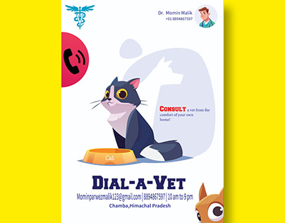 Advertising poster made for a doctor vet service