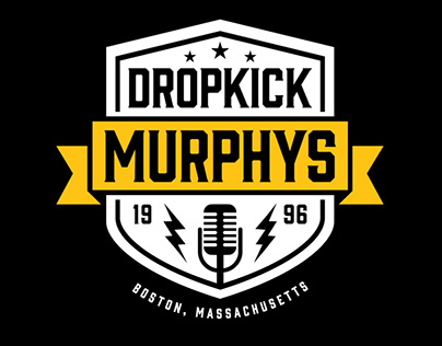 Dropkick Murphys 2016 European Tour Logo/Backdrop