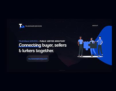 Telegram Servers - Banner Design