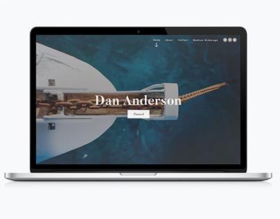 Client Personal Website Mock