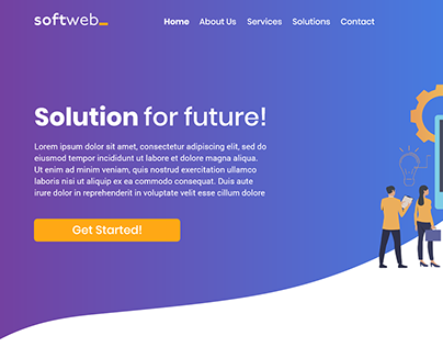 Softweb_ UX Design / project website / logo