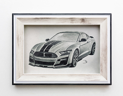 Mustang Shelby GT500 sketch