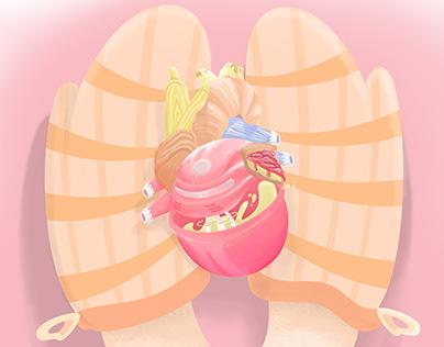 La dulce anatomía de algo hecho con el corazón