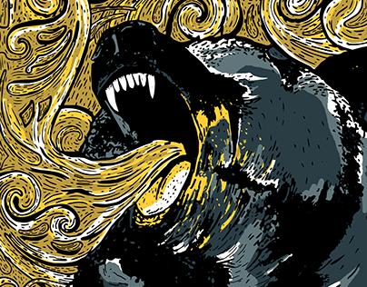 Silent Screams: Bear Illustration