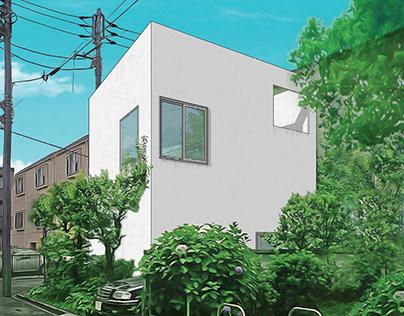 Study 01 House in a Plum Grove by Kazuyo Sejima