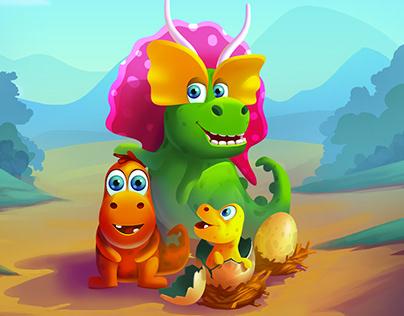 Merge Dino #Game Art