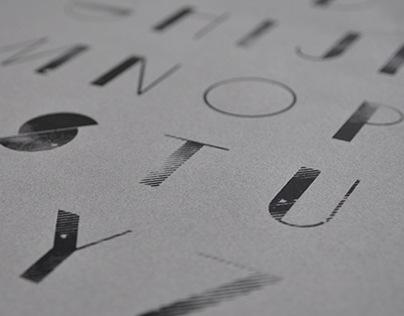 Sevenpoint: Silkscreened Custom Typeface Design