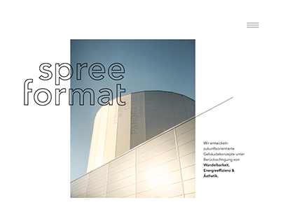Website redesign for an architecture studio