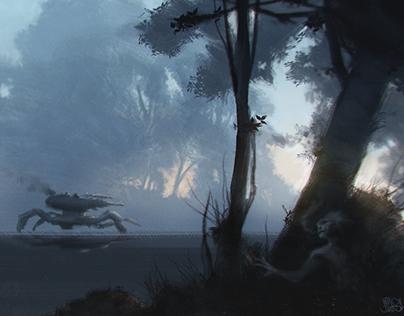 Head Hunting - digital painting