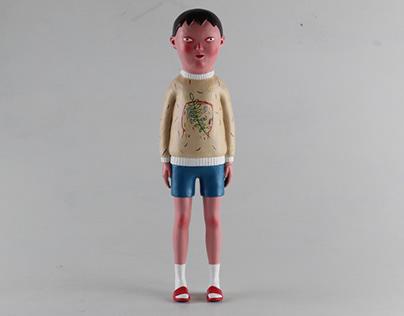 Lost Champion sculpture and knitted sweater