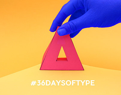 Animated Paper Vowels - #36DAYSOFTYPE