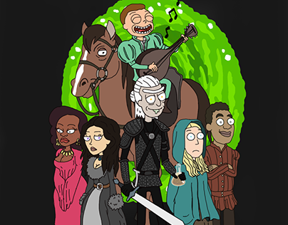 THE WITCHER RICK AND MORTY STYLE (RICHTER)