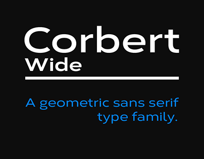 Corbert Wide - Type Family + FREE Weights