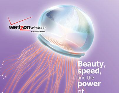 Poster Ad: Fiber Optic Jellyfish
