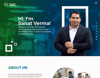 Mentor, Speaker, Life & Business Coach Website Template
