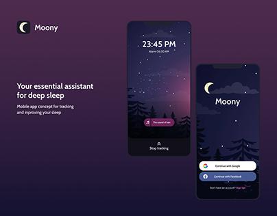 Moony — Mobile app for healthy sleep