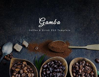 Gamba - Coffee & Drink Template
