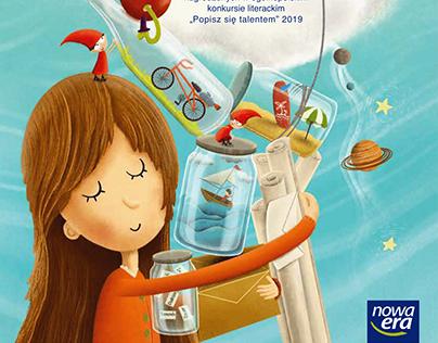 """Book """"Wielka księga marzeń"""" illustration"""