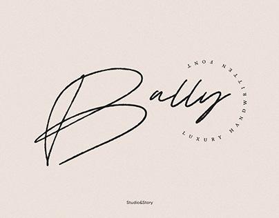 Bally   Script Font
