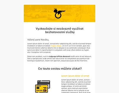 Newsletter design - Modrý Anděl