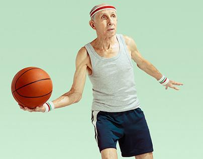 Old basketball player