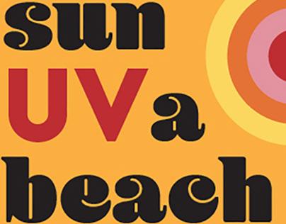 sun UV a beach sunblock