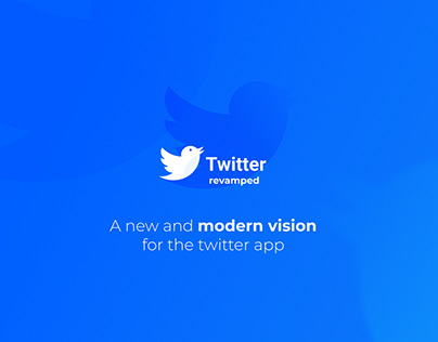 Twitter Social Network - Concept App Design