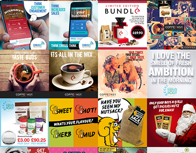 social media adverts and graphics