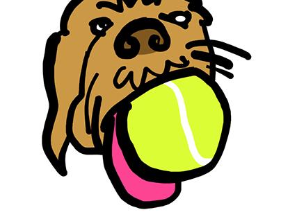 handdrawn dogs