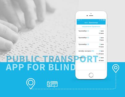 Mobile app for blind