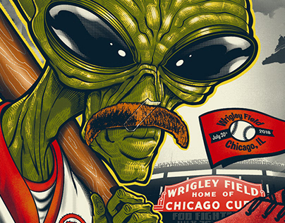 Foo Fighters Gig Poster Wrigley Field 2018