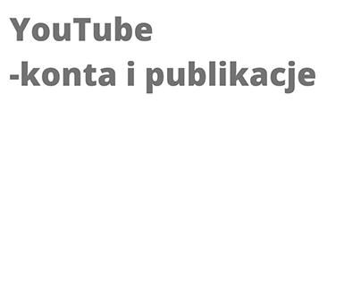 YouTube - konta i publikacje