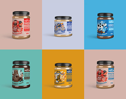 Peanut Cream Label Designs
