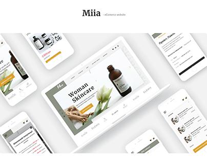 Miia shop - eCommerce website