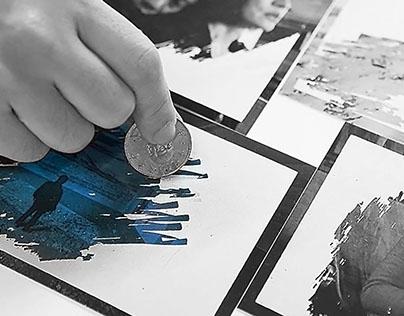 《來美術館郊遊-蔡明亮大展》限量版刮刮墨明信片設計(一套四款)
