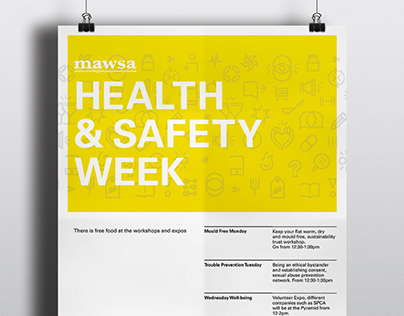Health and Safety week Poster || MAWSA