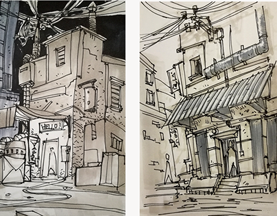 102x152 mm sketches