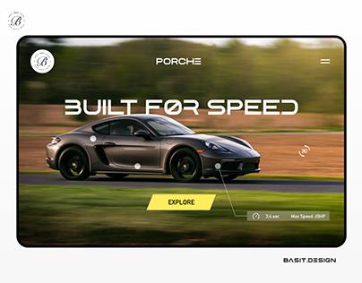 Motorsport Website Landing Page Concept