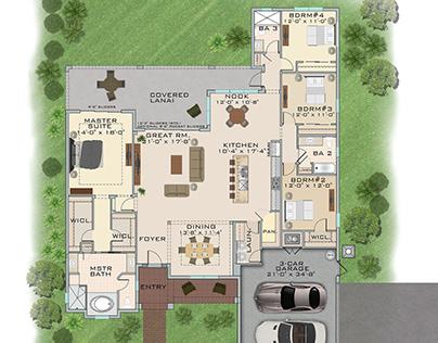 Real Estate CAD Architectural Floor Plans
