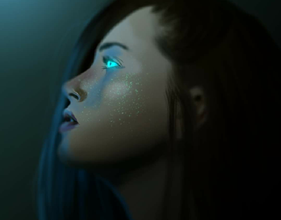 Drawing Womans Digital Painting