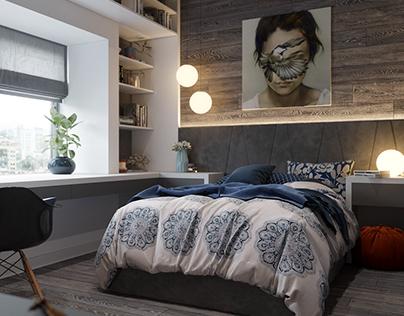 """Render of badroom for """"MV arch&design"""""""