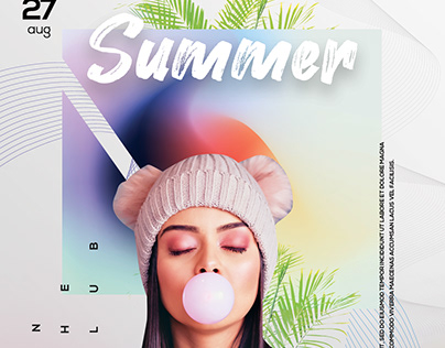 Summer Party Flyer Template (PSD)