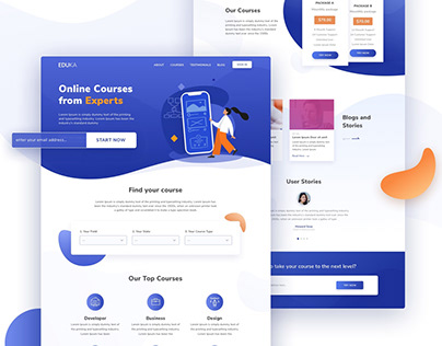 Online Courses Landing Page