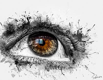 Imprisioned eye